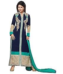 Aarsh Apparel Women's Georgette Salwar Suit Dress Material (aa-55018_Blue_Free Size)