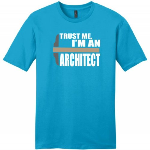 Trust Me I'M An Architect Young Mens T-Shirt Medium Light Turquoise