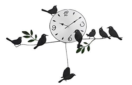 お洒落 バード 鳥 ウォール クロック 壁掛け 振り子 時計 ( お部屋 インテリア に おすすめ )