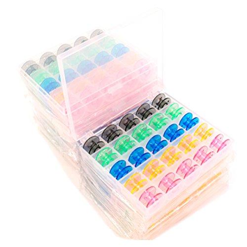 VORCOOL 25pz Rocchetti Bobine in Plastica per Macchina da Cucire con Custodia (Multicolore)
