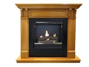 Active Flame Oak Gel Fuel Mantel & Insert