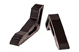 Door Stopper - Rubber 2 Pack - Extra Large Heavy Duty Wedge - Keeps Doors Open - Home or Office