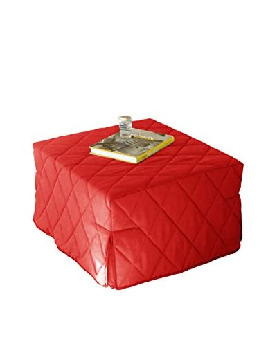 Facondini Puff Cama Rojo
