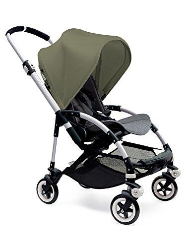 Bugaboo Bee3 Stroller - Dark Khaki - Grey Melange - Aluminum