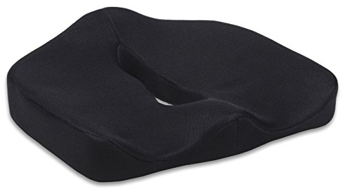Seat Cushion - Car Seat Cushion - Chair Cushion - Sciatica Cushion - Prostate Cushion - Hemorrhoid Cushion- Low Back Pain Cushion - Tailbone Cushion - Coccyx Cushion (Titanium Black) (Car Cushion compare prices)