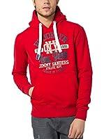 Jimmy Sanders Sudadera con Capucha (Rojo)