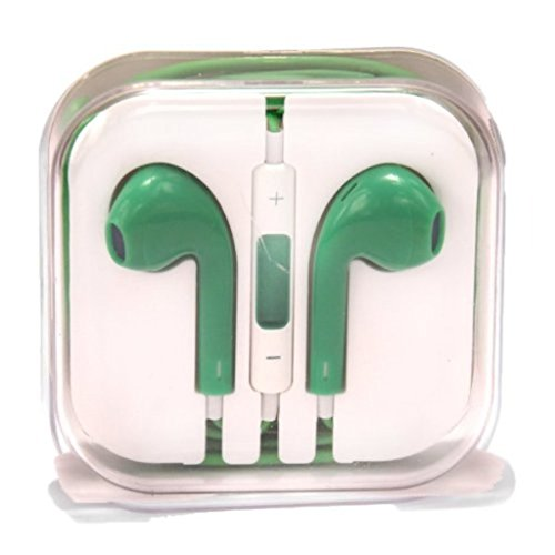 Xgen Eerpuds High Quality Sound Earphones With Remote And Mic Control For Iphone 5,5S,5C Ipads, Ipods Nano Competible Type 5 (Green)