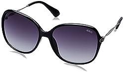 IDEE Gradient Square Womens Sunglasses - (IDS2085C1SG|58|Smoke Gradient lens)