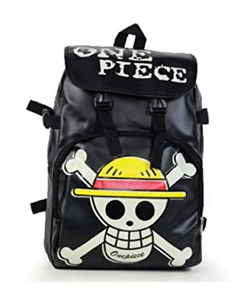 Anime One Piece Backpack Shoulder Bag Luffy Cosplay School Student/Skull Bag New Black