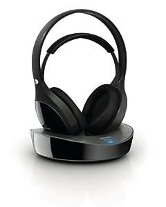 Philips SHD8600 Digitaler HiFi-Funkkopfhörer (flexibler Bügel, CD Qualität mit digitaler 2,4 GHz Übertragung, rauschfrei) schwarz