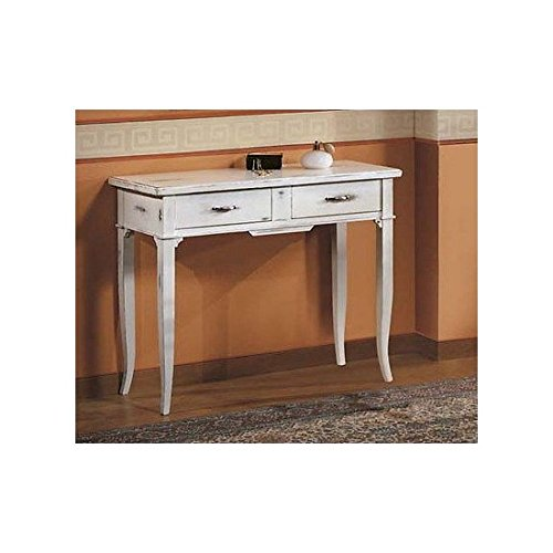 Table consollelegno massif col blanc spigolato Antique - comme photos