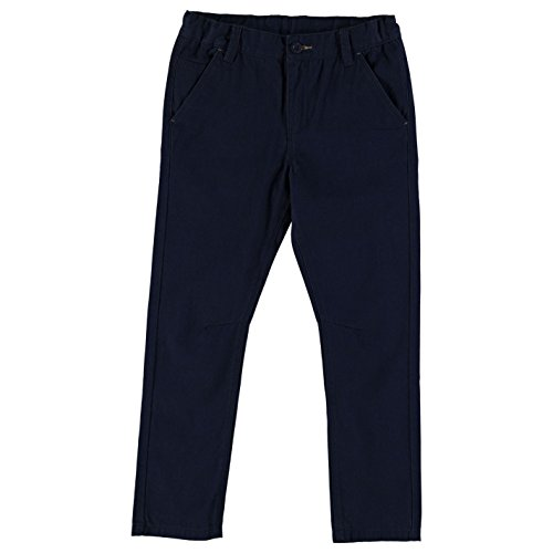 Lee Cooper bambini Tessuto pantaloni CHINO pantaloni lunghi Chino pantaloni tasche cotone Chino da ragazzo Marineblau Large