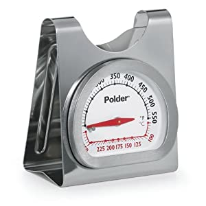Polder 12452 Stainless Steel Oven Thermometer by Polder