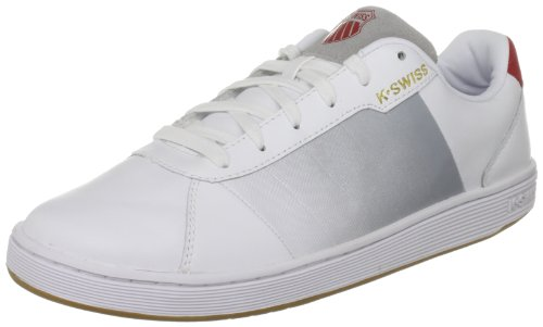 KSWISS Men's Altadena White/Grey/Red/Classic Blue Fashion Trainer 02411-188-M 8.5 UK