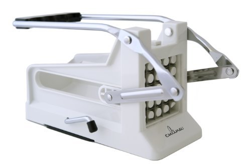 Culina French Fry Potato Cutter with Round Bottom for Easy Slicing, 2 Blades (Potato Fries Slicer compare prices)