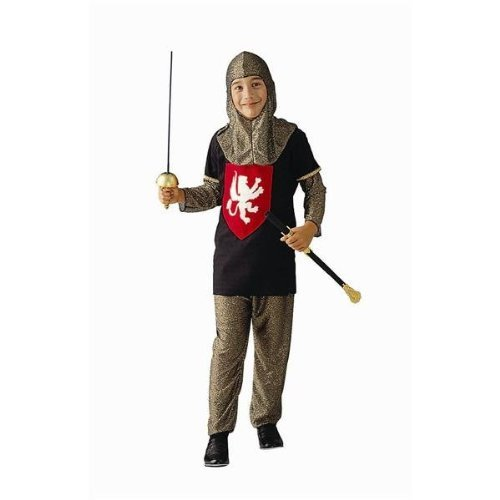 RG Costumes 90048-S-L Medieval Silver Knight Costume - Size Child-Large