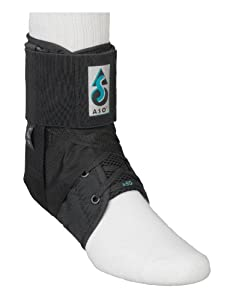 ASO Ankle Stabilizing Orthosis W inserts (Black, Medium) by MedSpec