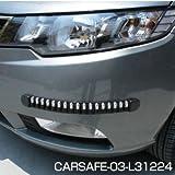 車 バンパーガード・プロテクター 軽自動車/自動車/車 カー用品/内装パーツ/カーアクセサリー 付け方 簡単CARSAFE-03-L31224 (ブラック)