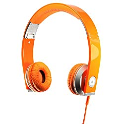 Accutone Pisces Band HD Stereo Headphone with Microphone & Digital Control(Orange)