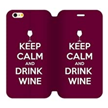 buy Generic Keep Calm And Drink Wine Tpu Back Cover Case And High Grade Pu Leather For Iphone6 Plus 4.7 Aci-96