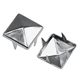 50 Silver DIY Pyramid Square Studs Custom Nailhead Punk Gothic Spike Spots Fashion Accessories