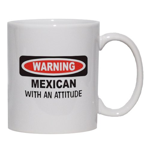 Mexican With An Attitude Mug For Coffee / Hot Beverage 15 Oz. Black