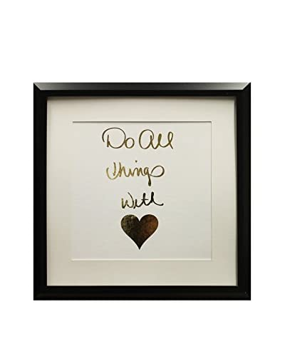 Star Creations Gold Foil Inspirational Series Do All Things With Love, 18 x 18