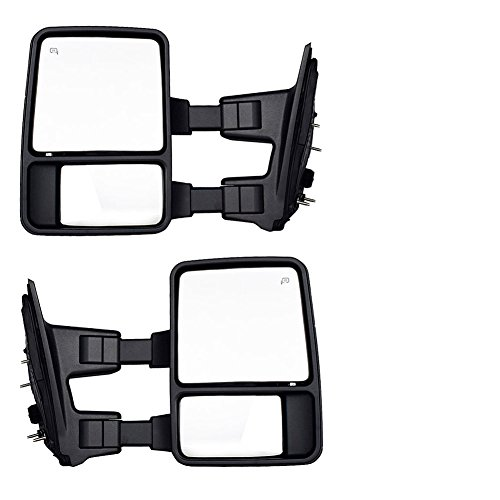 DEDC Ford Towing Mirrors F250 Ford Tow Mirrors F350 F450 Pair For 1999-2007 Side Mirror Power Heated With Signal Light (Upgrade to 08 Superduty Retrofit) 1999 2000 2001 2002 2003 2004 2005 2006 2007 (2007 F350 Accessories Ford Truck compare prices)