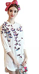 Choice Fashion Women_ fancy 3D butterfly top