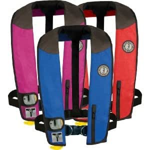 Mustang Life Jacket: Automatic 1F Inflatable PFD w/ Harness