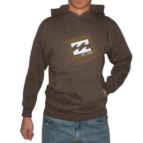 Billabong Boys Warm Surf & Skate Hoodie Sweatshirt Jacket - Brown