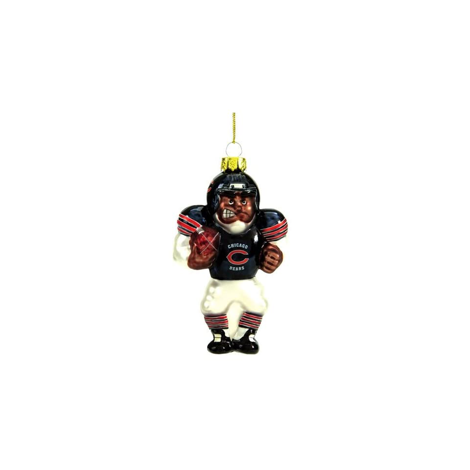 Chicago Bears Nfl Glass Player Ornament (5 African American)