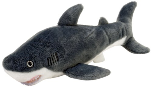 "Wild Republic AQ Shark Great White Adult 10"" Plush"