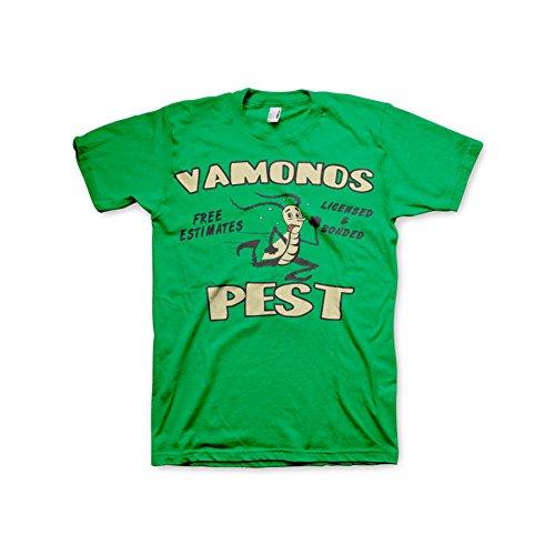 Officially Licensed Merchandise Breaking Bad Vamanos Pest T-Shirt (Green), Medium
