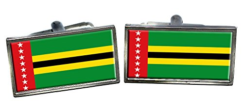 santander-colombia-flag-cufflinks-in-a-chrome-case