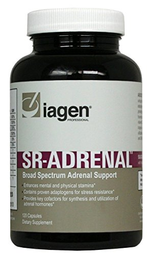 Iagen Naturals - SR Adrenal - Promotes Fatigue Relief & Supports Adrenal Function - 120 Veg Capsules - 30 Day Supply