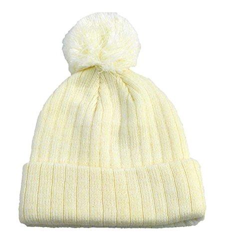 simplicity-unisex-winter-beanie-hats-with-pom-100-acrylic-cream