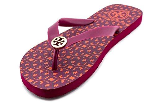 Tory Burch Flip Flops Sandals Flat Rubber Party Fuchsia Size 6