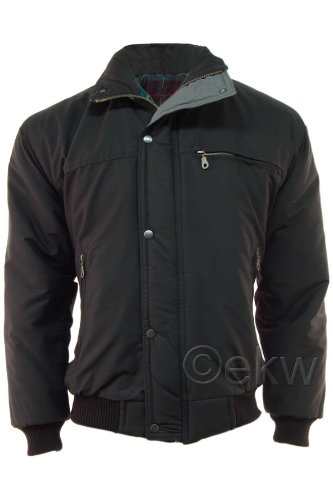 Mens Classic Padded Warm Bomber Jacket Coat
