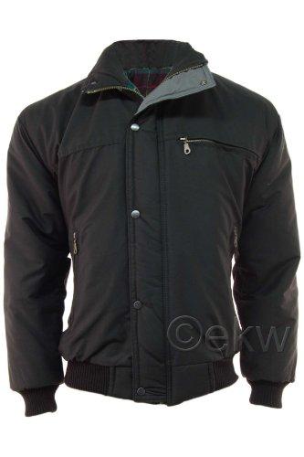 Mens Classic Padded Warm Bomber Jacket Coat