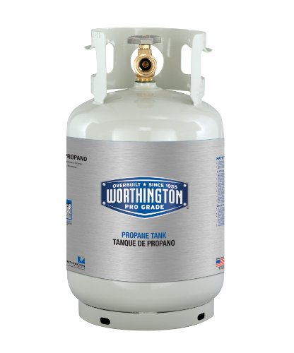 Worthington 281166 11-Pound Steel Propane Cylinder With Type 1 With Overflow Prevention Device Valve