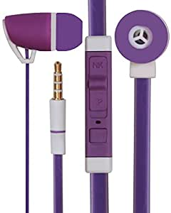 Premium 3.5mm Designed In Ear Bud Earphones Headset Handsfree Compatible For Asus Zenfone Selfie ZD551KL -Purple