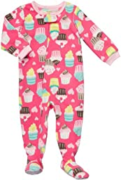 Carter\'s Toddler Footed Fleece Sleeper - Cupcake Print-2T