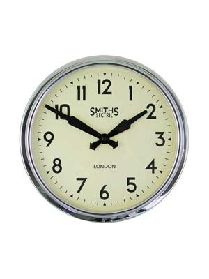 Smiths Clocks Classic Wall Clocks SM/RETRO/CHROME