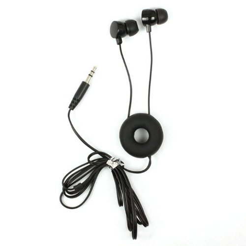 Aokdis Unique Fashion Doughnuts Style In-Ear Earphone Headphone For Iphone/Ipod/Htc/Pc/Samsung (Black)