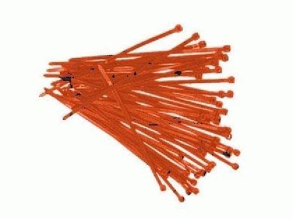 Serre-câbles de 200 x 4,8 mm-rouge-lot de 500