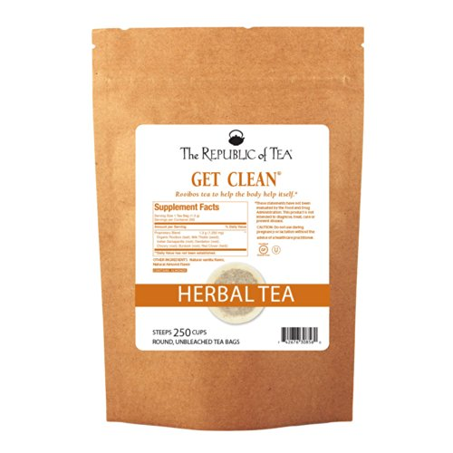 The Republic Of Tea Get Clean - No. 7 Herb Tea For Detoxing, 250 Tea Bags