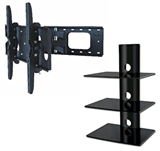 Buying Guide of  PROMOUNT PACKAGE DEAL! Three SHELVES Wall Mount for AUDIO VIDEO Equipment-BLACK Glass  Tube