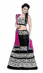 Clickedia Women's Net Lehenga Choli(Aliya Bhatt Black Lehenga)