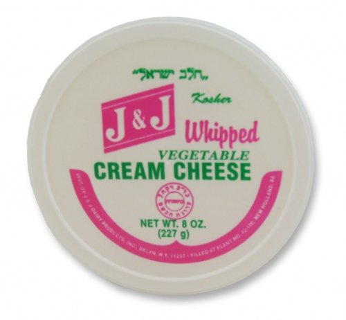 J&J - Cholov Yisroel Whipped Vegetable Cream Cheese (8 oz.) - 4 Pack